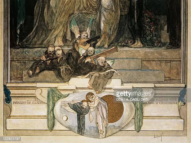 Dante Alighieri Divina Commedia 13041321 Paradiso Canto XI Illustration by Franz von Bayros Vienna 1921 Detail