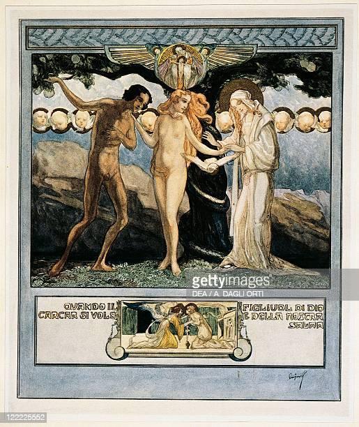 Dante Alighieri Divina Commedia 13041321 Paradiso Canto XXXII Illustration by Franz von Bayros Vienna 1921
