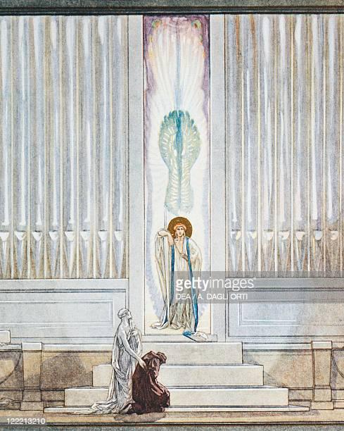 Dante Alighieri Divina Commedia 13041321 Purgatorio Canto IX Illustration by Franz von Bayros Vienna 1921 Detail