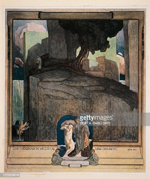 Dante Alighieri Divina Commedia 13041321 Purgatorio Canto XIX Illustration by Franz von Bayros Vienna 1921