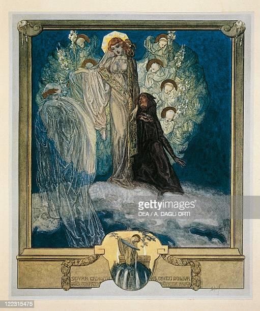 Dante Alighieri Divina Commedia 13041321 Purgatorio Canto XXX Illustration by Franz von Bayros Vienna 1921