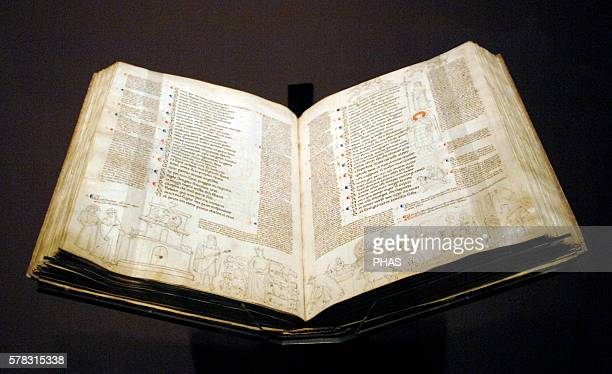 Dante Alighieri Italian poet of the late Middle Ages Divine Comedy with commentary by Jacopo Della Lana and marginal notes 15th century Parchemin...