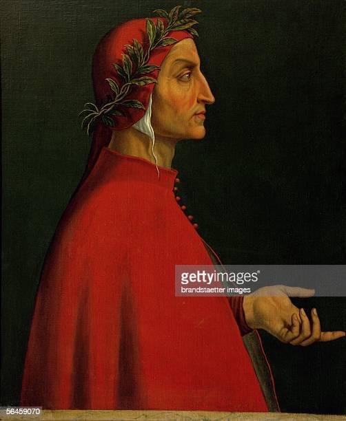 "Dante Alighieri, Italian poet who wrote the ""Divina Commedia"". Inv. 8066. [Dante Alighieri, italienischer Dichter , der die ""Gottliche Komoedie""..."