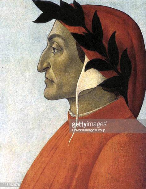 Dante Alighieri known as Dante Italian poet Portrait c1495 by Sandro Botticelli Italian Early Renaissance painter