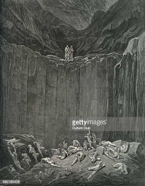 Dante Alighieri La Divina Commedia L'Inferno Canto XXIX illustration by Gustave DorŽ for lines 5256 'Then my sight / Was livelier to explore the...