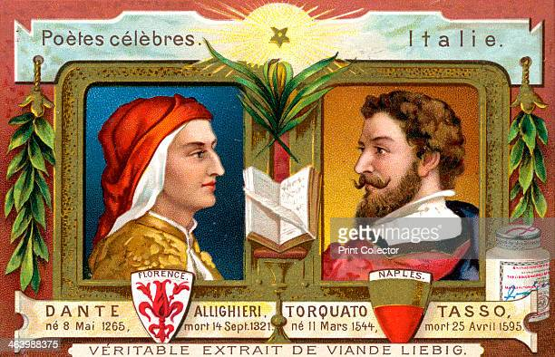 Dante Allighieri and Torquato Tasso c1900 Italian poets of the 14th and 16th century French advertising for Liebig extract of meat c1900