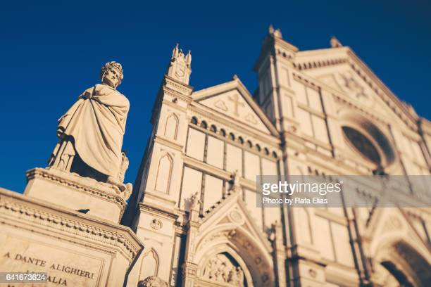 Dante and Basilica of Santa Croce (Florence, Italy)