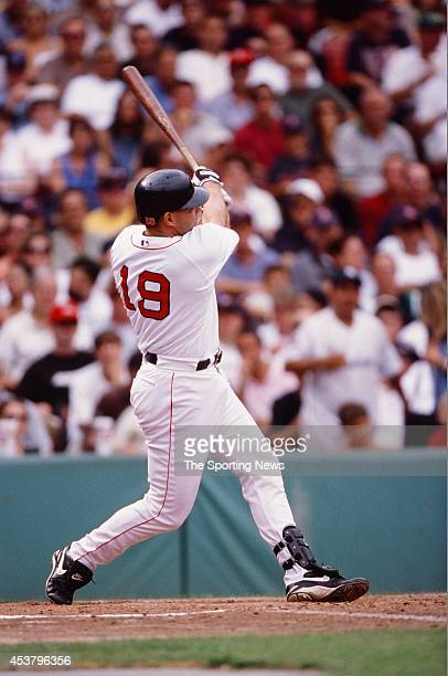 Dante Bichette of the Boston Red Sox bats during a game against the New York Yankees at Fenway Park on Spetember 9, 2000 in Boston, Massachusetts....