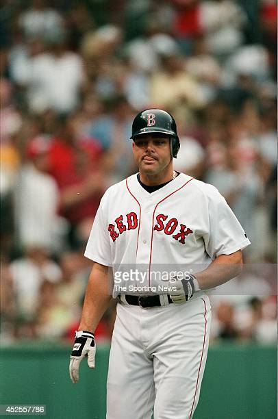 Dante Bichette of the Boston Red Sox looks on against the New York Yankees during the game at Fenway Park on September 8, 2000 in Boston,...