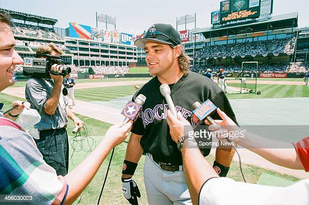 Dante Bichette of the Colorado Rockies during the 1995 All Star Weekend on July 10, 1995 at The Ballpark at Arlington in Arlington, Texas.