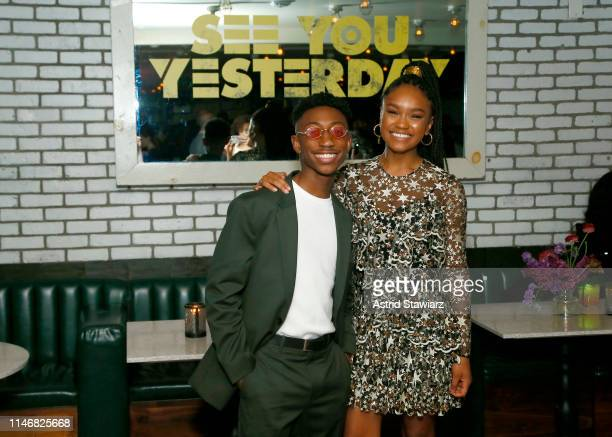 Dante Crichlow and Eden DuncanSmith attend the after party for Netflix's See You Yesterday Tribeca Film Festival Premiere at Catch NYC on May 03 2019...