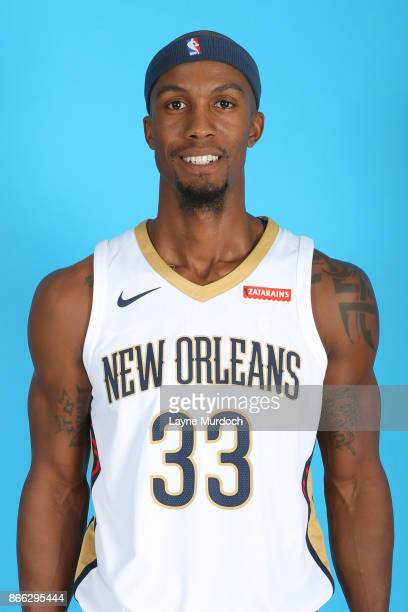 Dante Cunningham of the New Orleans Pelicans poses for a head shot during 2017 NBA Media Day on October 10 2017 at the Ochsner Sports Performance...