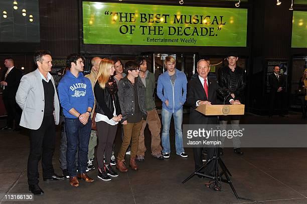 Dante Di Loreto, Darren Criss, Harry Shum Jr., Ryan Murphy, Heather Morris, Kevin McHale, Ian Brennan, Brad Falchuk. Chord Overstreet, Mark Salling...