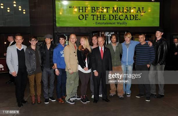 Dante Di Loreto, Kevin McHale, Harry Shum Jr., Darren Criss, Ryan Murphy, Heather Morris, Ian Brennan, Brad Falchuk, Chord Overstreet, Mark Salling...