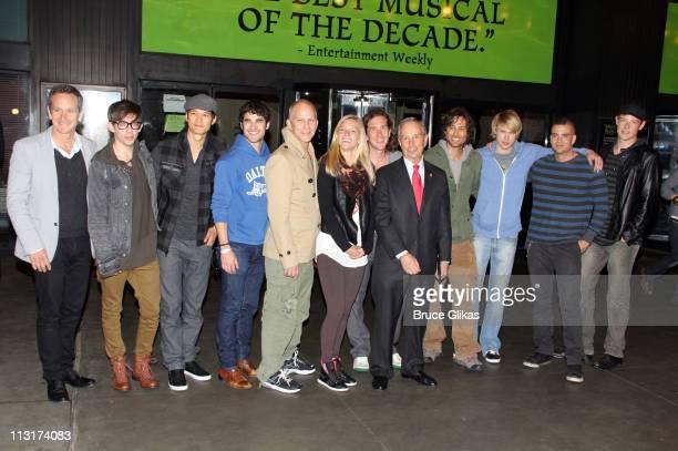 Dante Di Loreto, Kevin McHale, Harry Shum Jr., Darren Criss, Ryan Murphy; Heather Morris, Ian Brennan, Brad Falchuk, Chord Overstreet, Mark Salling...