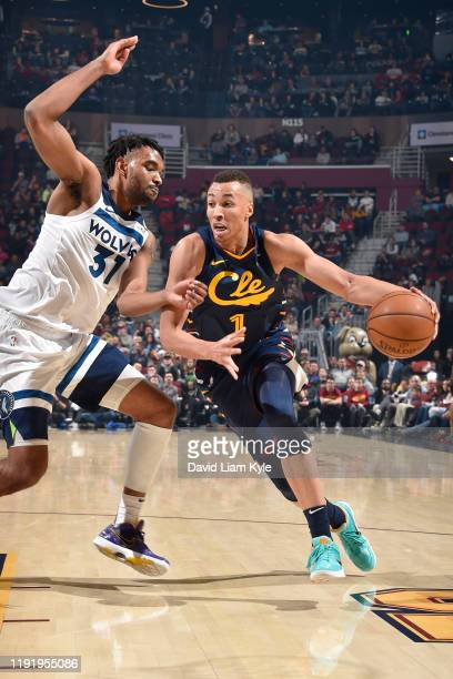 Dante Exum of the Cleveland Cavaliers handles the ball against the Minnesota Timberwolves on January 5 2020 at Rocket Mortgage FieldHouse in...