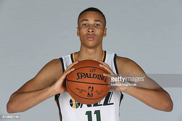 Dante Exum of the Utah Jazz poses for a photo during the 20162017 Utah Jazz media day at Zions Bank Basketball Center on September 26 2016 in Salt...