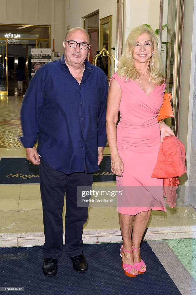 Dante Ferretti and Francesca Lo Schiavo attend Day 1 of the Ischia Global Fest 2013 on July 13, 2013 in Ischia, Italy.