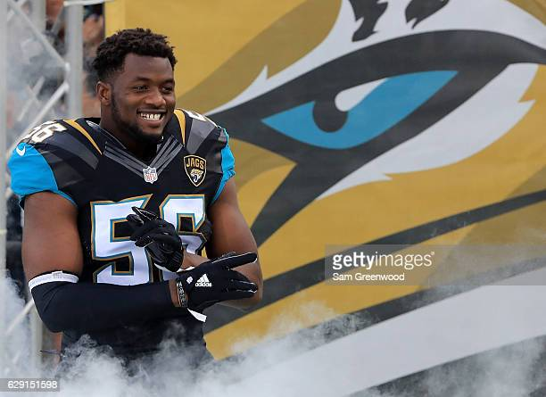 Dante Fowler of the Jacksonville Jaguars before the game against the Minnesota Vikings at EverBank Field on December 11 2016 in Jacksonville Florida