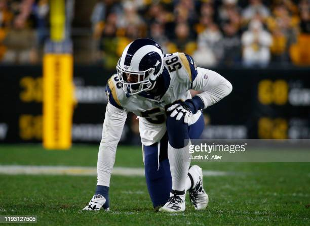 Dante Fowler of the Los Angeles Rams in action against the Pittsburgh Steelers on November 10, 2019 at Heinz Field in Pittsburgh, Pennsylvania.