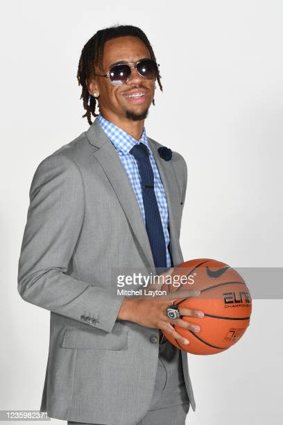 Dante Harris of the Georgetown Hoyas poses for a photo during the Big East Media Day at Madison Square Garden on October 19, 2021 in New York City.