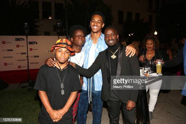 Dante Hoagland Tyler Williams Keith Powers and Elijah Kelley arrives at the premiere Ssreening of The Bobby Brown Story presented by BET and Totota...
