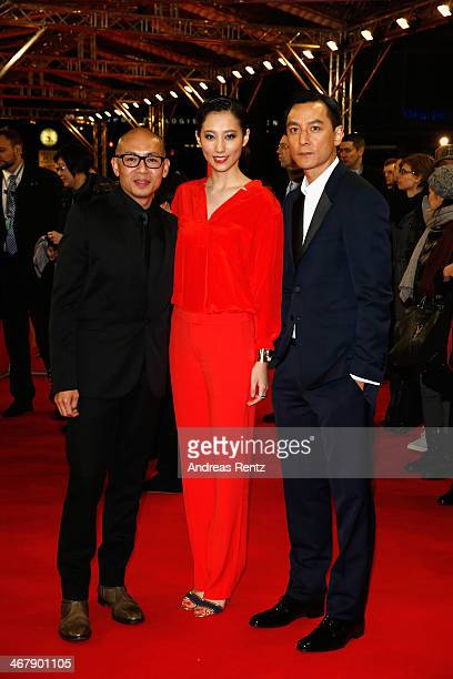 Dante Lam Christie Chen and Daniel Wu attend 'That Demon Within' premiere during 64th Berlinale International Film Festival at Zoo Palast on February...