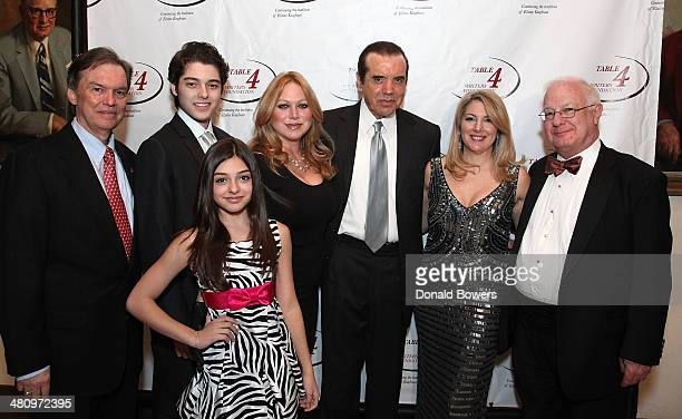 Dante Lorenzo Gabriella Rose Gianna Ranaudo Lifetime Achievement Award recipient actor Chazz Palminteri Table 4 Writers Foundation Chair Jenine...