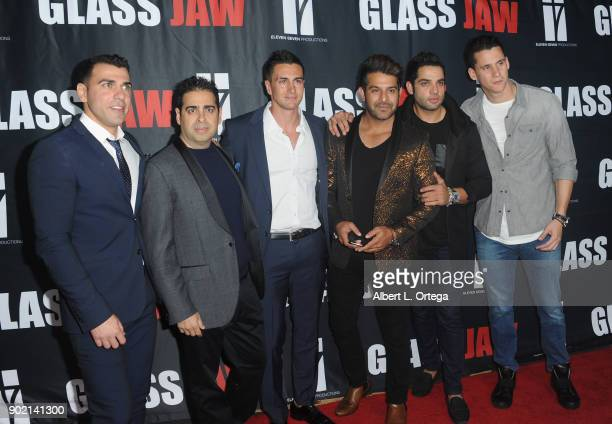 Dante Nigro Don Gatsby Lee Kholafai Johnny F Beig arrive for the premiere of 'Glass Jaw' held at Universal Studios Hollywood on November 9 2017 in...