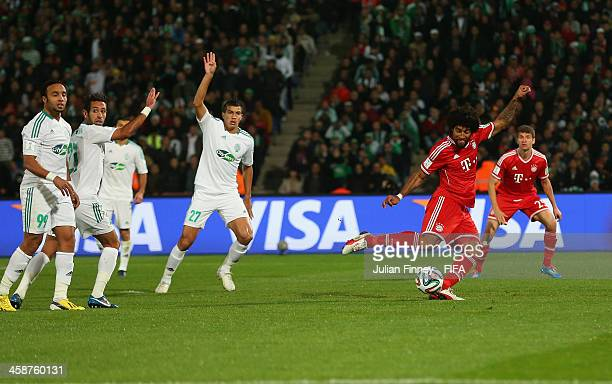 Dante of Bayern Munchen scores to make it 1-0 during the FIFA Club World Cup Final match between FC Bayern Munchen and Raja Casablanca at the...