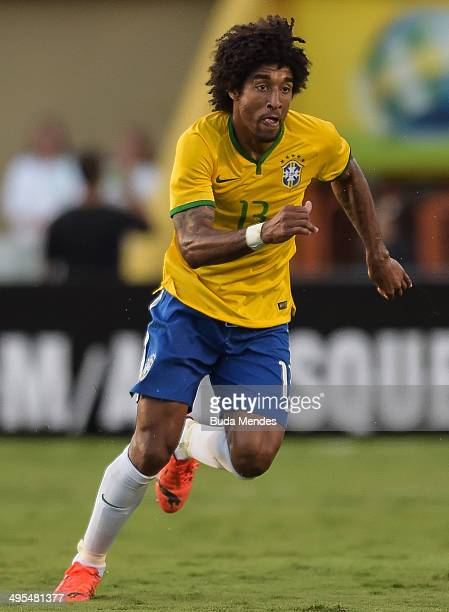 Dante of Brazil in action during the International Friendly Match between Brazil and Panama at Serra Dourada Stadium on June 03 2014 in Goiania Brazil