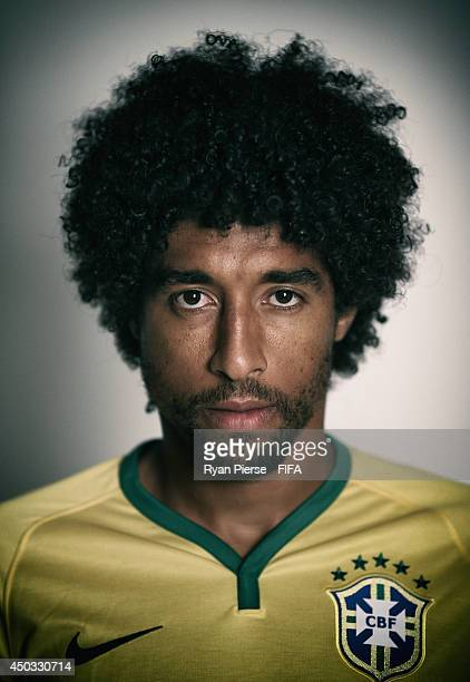 Dante of Brazil poses during the official FIFA World Cup 2014 portrait session on June 8 2014 in Rio de Janeiro Brazil
