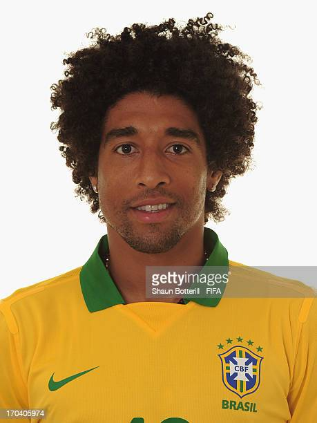 Dante of Brazil poses for a portrait at the Palace Hotel on June 12 2013 in Brasilia Brazil