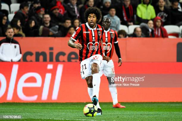 Dante of Lyon during the Ligue 1 match between Nice and Lyon at Allianz Riviera on February 10, 2019 in Nice, France.