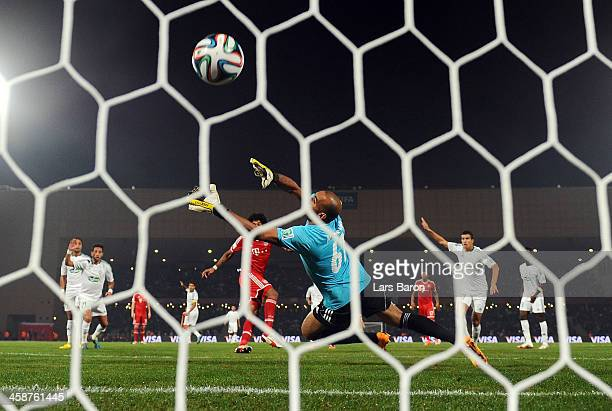 Dante of Muenchen scores his teams first goal during the FIFA Club World Cup Final between FC Bayern Muenchen and Raja Casablanca at Marrakech...