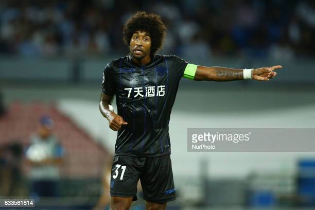 Dante of Nice at San Paolo Stadium in Naples, Italy on August 16, 2017 during the UEFA Champions League Qualifying Play-Offs Round First Leg match...