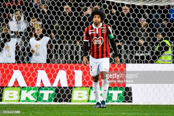 Dante of Nice during the French League Cup match between Nice and Guingamp at Allianz Riviera Stadium on December 19 2018 in Nice France