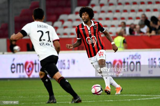 Dante of Nice during the French Ligue 1 match between OGC Nice v Stade Rennais on September 14 2018 in Nice France