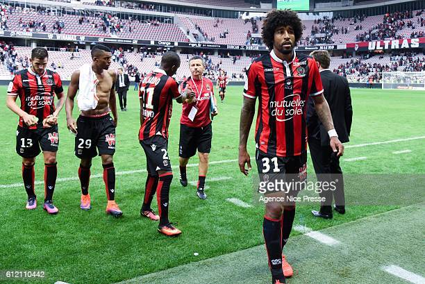 Dante of Nice during the Ligue 1 match between OGC Nice and FC Lorient on October 2 2016 in Nice France