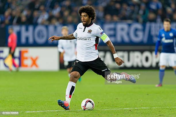 Dante of OGC Nice in action during the Europa League First Qualifying Round 2nd Leg match between FC Schalke 04 and OGC Nice at VeltinsArena on...