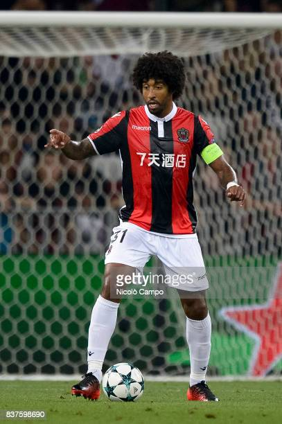 Dante of OGC Nice in action during the UEFA Champions League Qualifying PlayOffs Round Second Leg match between OGC Nice and SSC Napoli SSC Napoli...