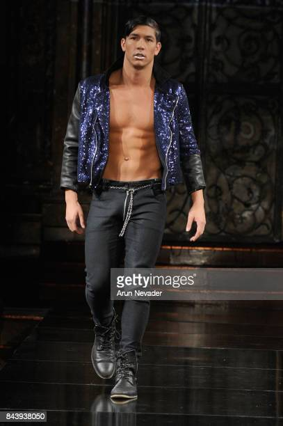Dante Saverio Amato walks the runway for Jonathan Marc Stein Fashion Show at Art Hearts Fashion SS/18 at The Angel Orensanz Foundation on September 7...
