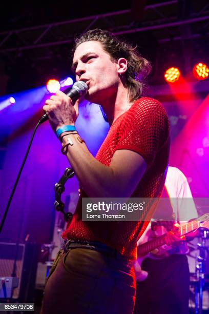 Dante Traynor of Sweat performs at Latitude 30 on March 14 2017 in Austin Texas