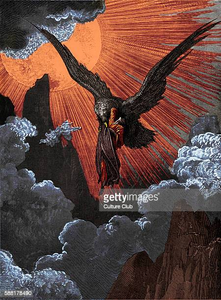 Dantes purgatory part of his Divine Comedy Illustration by Gustave Doré Caption There both I thought the eagle and myself did burn and so intense the...