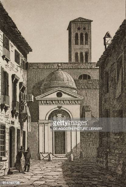 Dante's Tomb in Ravenna EmiliaRomagna Italy engraving by Ollivier from Italie by AlexisFrancois Artaud de Montor Sicilie by Gigault de La Salle...