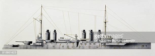 Danton battleship France drawing