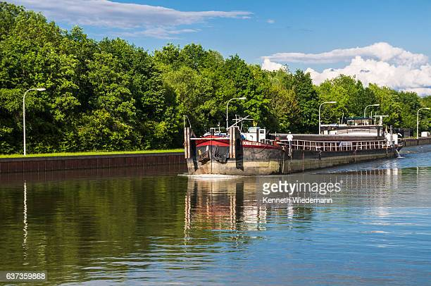 danube cargo ship - straubing stock pictures, royalty-free photos & images