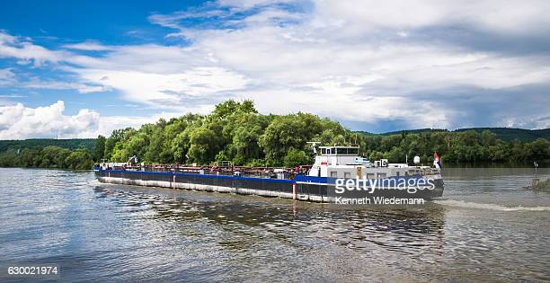 danube oll barge - barge stock photos and pictures