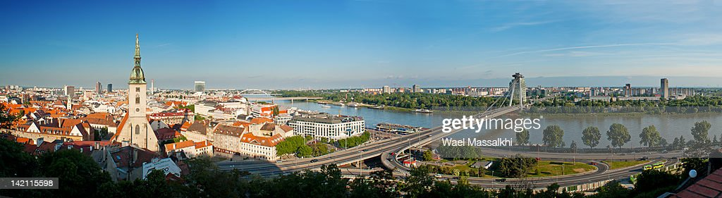 Danube River in Bratislava : Stock Photo
