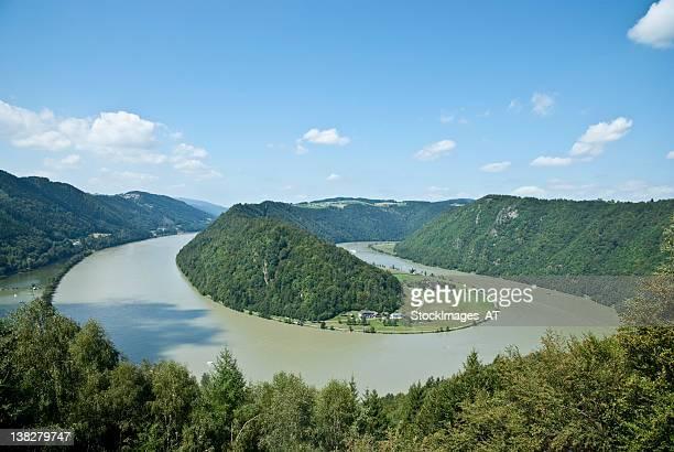 danube schloegener noose - austria stock pictures, royalty-free photos & images